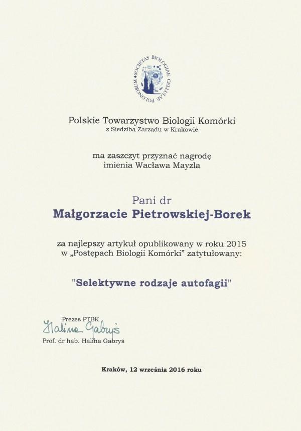 Nagroda Wacława Mayzla