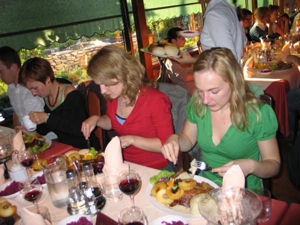 Sponsorowana kolacja w Hacjendzie – specjalność kuchni – dzikie kaczki